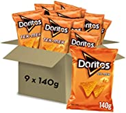 Doritos Tex-Mex 140g - Sabor a Queso - Pack de 9