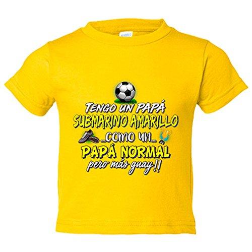Camiseta niño tengo un papá Submarino Amarillo como un papá normal pero más guay - Amarillo, 5-6 años