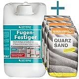 HOTREGA - Fugen- Festiger 5L SET + 3x Quarzsand 10 kg