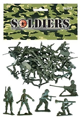 Pack de 30 Plastique Jouet Soldats - Grande Valeur Cadeaux Pour Chausettes De Noël