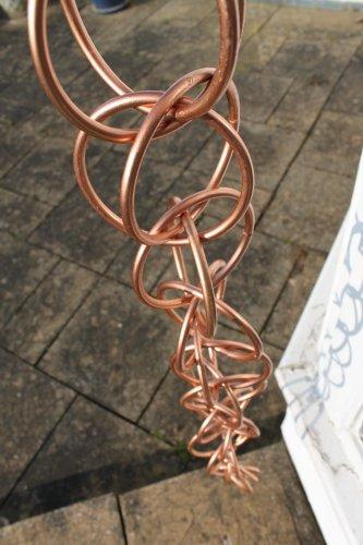 Regenketten - Doppel-Regenkette - aus verkupfertem Metall