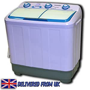washing machine twin tub compact portable washer spin dryer electric drain. Black Bedroom Furniture Sets. Home Design Ideas