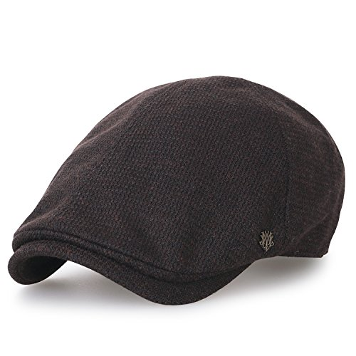 Produkt Wollmischung Gatsby Schieber Hut Cabbie (Chauffeurhut) Golfermütze Flach Cap (Large, Brown) (Paperboy Hut Für Männer)