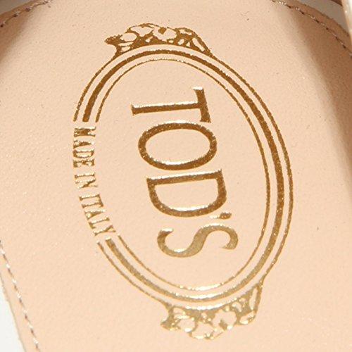 89839 decollete TOD'S GOMMA T 20 SS LINGOTTO PIASTRA scarpa donna shoes women Bianco