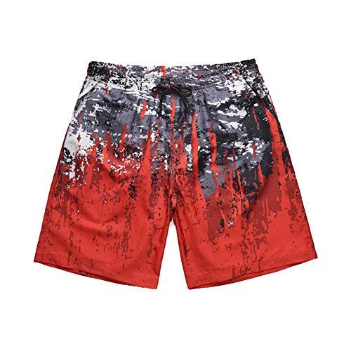 RSGNP Strand Shorts 3D Graffiti Printed Elstic Taille Männer Badehose Shorts Shorts Männer Strand Mitte Taille Hose Lose Quick Dry Herren Badeshorts