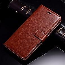 Redmi Y2 Flip Cover Case : Thinkzy High Quality Artificial Leather Flip Cover Case for Redmi Y2 – Brown