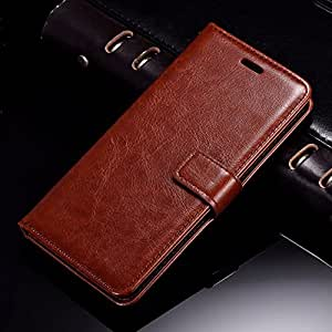 Thinkzy Leather Flip Cover for Lenovo K8 Note (Brown)