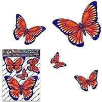 Adesivi per auto piccoli animali farfalla arancione D1 - ST00025OR_SML - Adesivi JAS