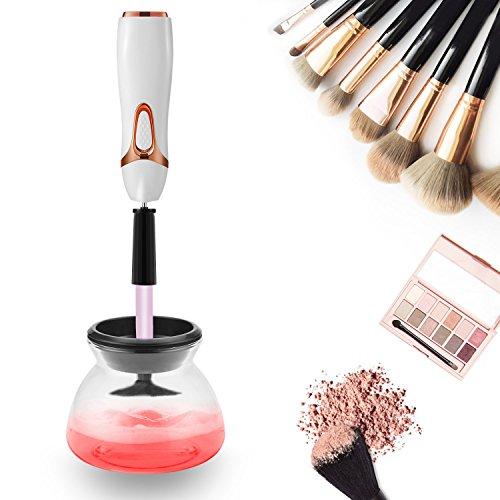 Make-up Pinsel Reiniger Trockner, komplett sauber in Sekunden und trocken in 360 Rotation mit 8 Gummi-Halter, Anzug für alle Größe Make-up Pinsel