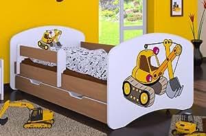 kinderbett bagger mit matratze und bettkasten neu 90 cm x 180 cm k che haushalt. Black Bedroom Furniture Sets. Home Design Ideas
