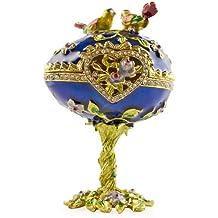 4Uccelli Jeweled Faberge stile russo Uova di Pasqua