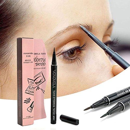 MSmask Tattoo Pen Langlebig 7 Tage Braue Bleistift, Stift, wasserdichte Damen Cosmetic (Einfache Halloween-zeichnung)