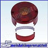 Lichtscheibe Ersatzglas rund ohne KZL für DDR Rückleuchte Rücklicht Pkw Anhänger