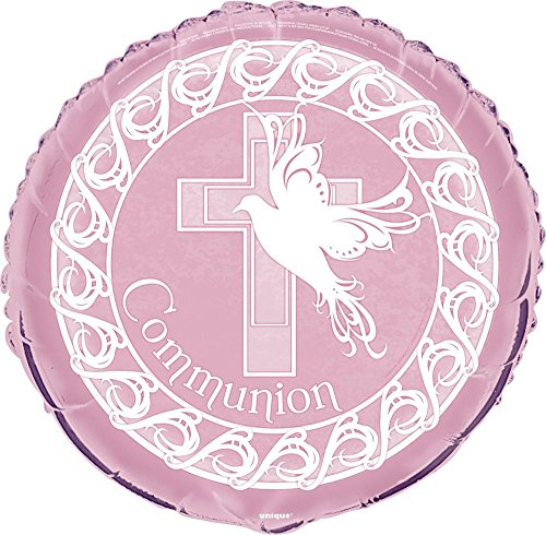 Unique Party Supplies Ballon zur Taufe, Motiv: Taube, rosa (Kommunion-party Erste Die)