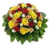 Dominik Blumen und Pflanzen, Bunter Rosenstrauß mit 36 Rosen, 1Strauß