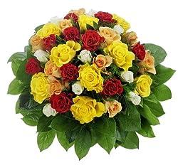 Bunter Rosenstrauß Mit 36 Rosen, 1strauß