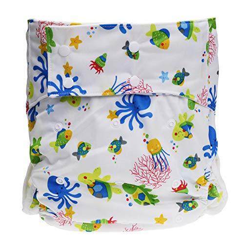 OOFAY Stoffwindel Für Erwachsene Wasserdicht Auslaufsicher Waschbar Altenpflege Hosen Druck Frauen Menstruationshose Druckknöpfen Einstellbare Größe,B