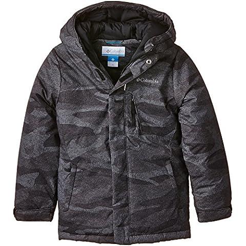Columbia chico Alpine amansado chaqueta impermeable, Niño, color Negro - Black/Camouflage, tamaño S