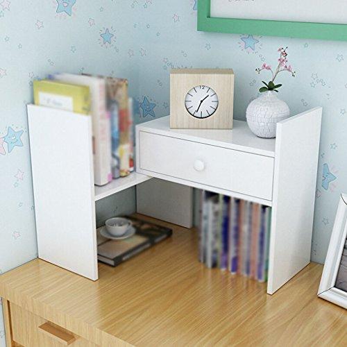 Estantería, Escritorio Rack de almacenamiento Blanco Madera Color ( Color : #1 )
