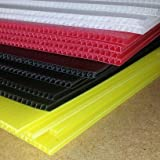 5 A1 sheets of White corex plastic polypropylene fluted display board