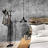 Effet gris foncé Béton industriel style de papier peint en marbre Loft ciment texture du papier peint au mur