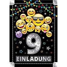 Junaversum 12 Einladungskarten zum 9 Kindergeburtstag M/ädchen Pferd Einladungen neunte Geburtstag