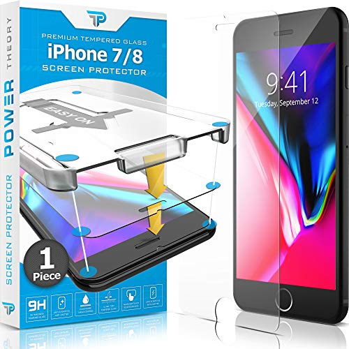 Power Theory Panzerglasfolie kompatibel mit iPhone 7/8 - Japanische 9H Panzerglas Folie, HD Displayschutzfolie/Panzerfolie, Tempered Glas Schutzglas, Schutzfolie Screen Protector Glass (Hd-iphone 5 Screen Protector)
