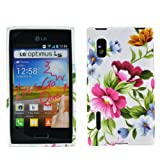 zkiosk Cover per LG Optimus L5, Flowers Colourful, LG Optimus L5 E610