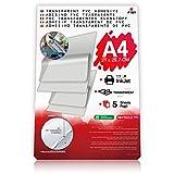 Hojas de papel PVC (policloruro de vinilo) transparente A4adhesivo para impresión Inkjet–Etiquetas y pegatinas personalizadas–Impermeable y protectora