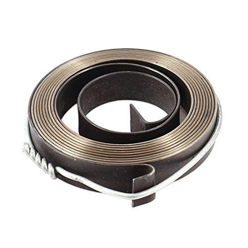 DealMux Stahl Recoil Starter Frühling für Tischbohrmaschine Z512-2 Z516 Z512B 10mm Breite Grau (Starter Recoil Frühling)