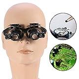 Loupe portant la lentille grossissante, double oeil bijoux montre réparation loupe loupe lunettes