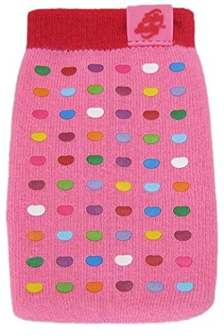 Jelly Belly Universal Mobile Phone Sock for iPhone, iPod, MP3 and Smartphone Devices - Bubble Gum