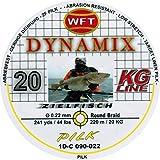 WFT Round Dynamix Pilk yellow 220m, geflochtene Schnur zum Meeresangeln, Angelschnur für Norwegen, Durchmesser/Tragkraft:0.22mm / 20kg Tragkraft