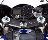 Ultimateaddons Motorrad Lenkervorbau Montage + Verstärker 4-loch Platte für TomTom Rider Urban / Pro - 17,5-20,5mm