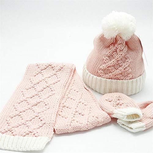 zyyaxky Baby Winter Baby Kind Schal Handschuhe Hut Dreiteilige Mädchen Boy Boy Girl Set Winter Hut Herbst Winter, 1 Boys Knit Winter Hut