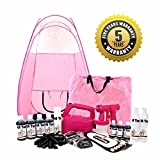 STAR BUY!! Latest Spray Tanning Kit With- HVLP 610 Pink Dynatec Unit, Pink Pop Up Tent, 7 Bottles of our AWARD WINNING LA Tan Solution, Disposables, Barrier Cream, Self Tan Mousses!PLUS FREE SHIPPING AND 5 YEARS WARRANTY!