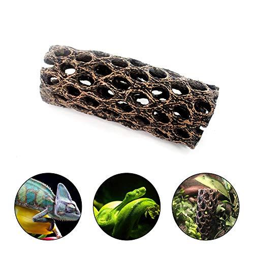 EZIZB Ornamente Für Aquarien Hintergrunddekor Für Aquarien Simuliert Hölzern Haufen Rinde Kletterbox Für Aquarium Kleines Fischversteck