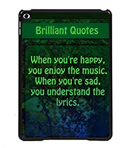 Printvisa 2D Printed Quotes Designer back case cover for Apple iPad Air 2 - D4534