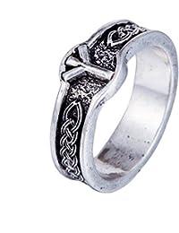 Fengteng Retro nórdico Talismán celta Nudo sajón Vikingo Anillo Vikingo Anillo de los ...