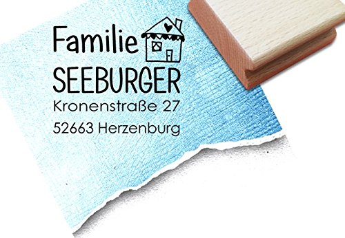 Familienstempel - Adresstempel - Firmenstempel individuell mit Namen und Anschrift