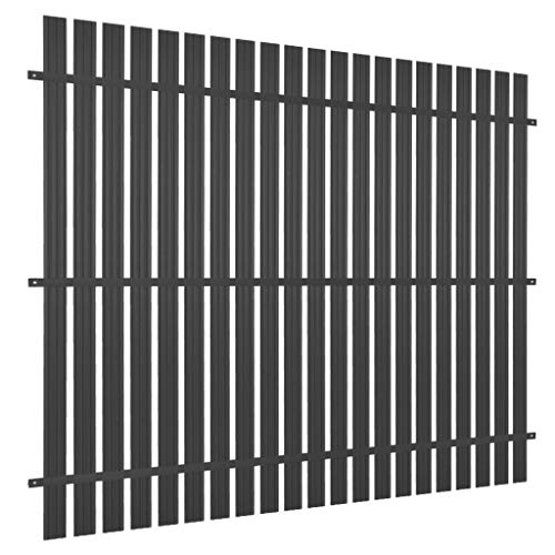 Festnight Valla Extensible,Panel de Valla de Aluminio | Panel Valla de Jardin | Privacidad de Jardín 180x180 cm Gris Antracita
