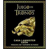 Juego de Tronos. Casa Lannister: león: Máscara 3D y soporte de pared (