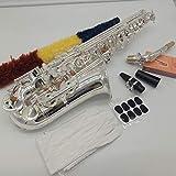 Marke neue Musik FANCIER Club Major Professionelle Alt Saxophon 54mit Koffer und Mundstück Instrument Silber glänzende
