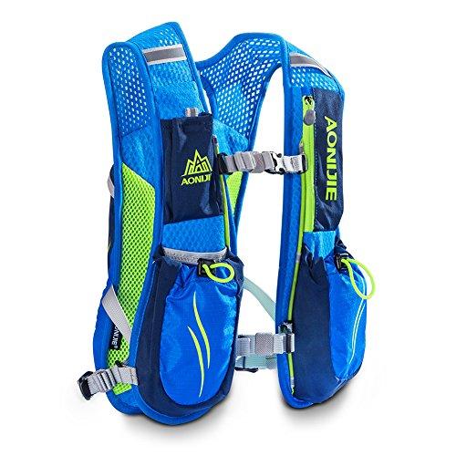 aonijie Rucksack Rucksack mit 2l Trinkblase Wasser Tasche Pack Radfahren/Wandern/Klettern Blau