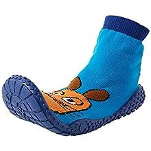 Playshoes Boy's Unisex Kids Aqua Socks with UV Protection Die Maus Water Shoes, Blue Blue 7, 2.5/3 UK Child