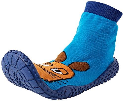 Playshoes Die Maus Aqua-Socke Badeschuhe Die Maus 174812, Jungen Aqua Schuhe, Blau (Original 900), 18/19 EU (Blue-aqua-socken)
