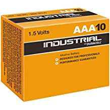 Industrial by Duracell ID2400B10B10 - Pilas alcalinas, AAA LR03, 10 unidades