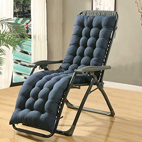 Il cuscino del sedile lungo spesso sedie a sdraio cotone felpato portacialde, cuscino sedile ,48*160cm- blu navy