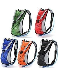 Shina Mochila Outdoor, mochila senderismo. Ligera, Mochila para ciclismo, correr, escalada, bolsa de deporte de 5 colores (Orange)