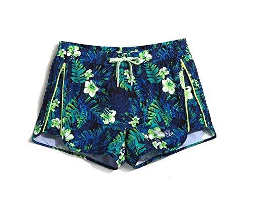 Lantra Besa - Short - Homme Blaue Blätter/ Damen mit Reißverschluss